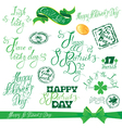 patrick day calligraphy set 380 vector image vector image