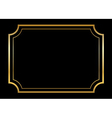 Gold frame Beautiful simple golden design black vector image