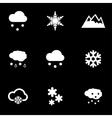 white snow icon set vector image vector image