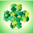 abstract green four leaf vector image