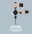 Flat Design Hand Drill vector image