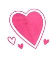 Pink watercolor hearts vector image