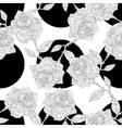seamless polka dot and roses vector image