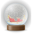 snow globe transparent vector image