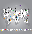 World map connection business concept vector image