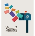 envelope email marketing send design vector image