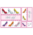 shoes card set vector image