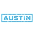 Austin Rubber Stamp vector image