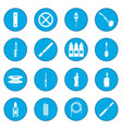 electronic cigarettes icon blue vector image