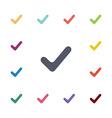 vote flat icons set vector image