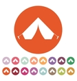 The tent icon Travel symbol Flat vector image