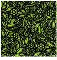 Seamless wallpaper Green vegetation repeating vector image