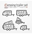 Camping trailer set vector image