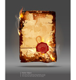 burning parchment vector image