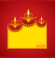 diwali utsav greeting or poster card vector image