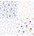 Doodle patterns vector image