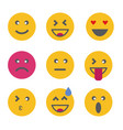 emoticon emoji set vector image
