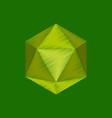 flat shading style icon virus vector image