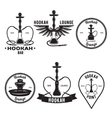 Hookah related set of logo labels and emblems vector image