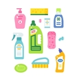 House cleaning hygiene and products flat vector image