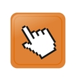 pixelated hand cursor icon image vector image