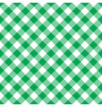 seamless green white traditional gingham pattern vector image