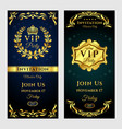 set of vintage vip-party vector image