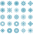 set of winter snow flakes symbols vector image