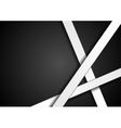 Black corporate background with white stripes vector image vector image