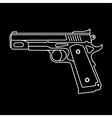 gun on black vector image vector image