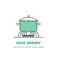 cooking pot on stove vector image