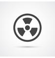 Trendy flat radiation warning icon vector image vector image
