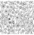 Seamless pattern with contour black-and-white vector image vector image