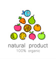 100 organic logo vector image vector image