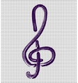 Treble clef on a background with dots vector image