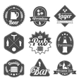 Alcohol beer labels badges collection vector image