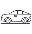 car vehicle automobile line icon sign vector image