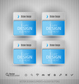 Glossy business stickers design elements for vector image