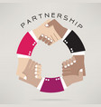 Handshake abstract design template vector image