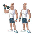 Healthy men athletic muscular weight vector image