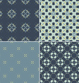 Navy Pattern Bundle vector image