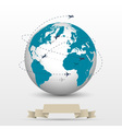 Planes flying around the globe vector image