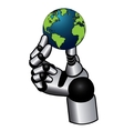 Robotic hand vector image
