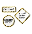 stickers with danger tape vector image
