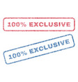 100 percent exclusive textile stamps vector image