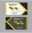 taxi card for taxi-drivers taxi service vector image