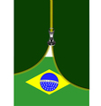 al 0722 zipper Brazilian flag vector image