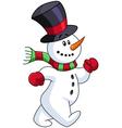 snowman walking vector image