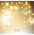 Christmas background with luminous garland with vector image vector image