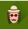 Flat icon with long shadow Jewish man vector image